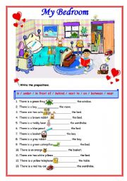 English Worksheets: WHAT IS WHERE?