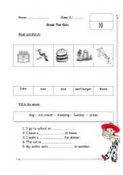 Printables English Test Grade  2 english worksheets grade 2 quiz worksheet quiz