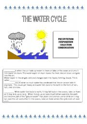 the water cycle worksheet by andrea garcia. Black Bedroom Furniture Sets. Home Design Ideas