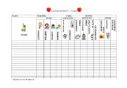 English Worksheets: Assessment Form