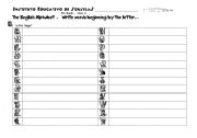 English worksheet: Alphabet Worksheet