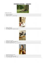 English Worksheets: DESCRIBING PICTURES ELEMENTARY