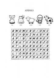 English Worksheets: Ca�a palavras de animais
