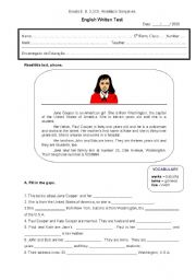 English Worksheet: Test for 5th form
