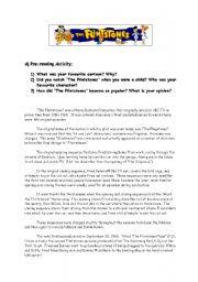 English Worksheets: THE FLINTSTONES