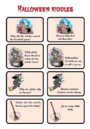 english worksheet js halloween riddles 03 of 5