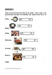 esl worksheets for beginners cooking methods. Black Bedroom Furniture Sets. Home Design Ideas