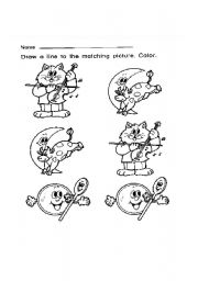 English Worksheets: MATCHING PICTURES