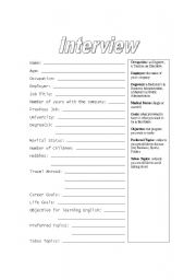 First class interview worksheet - ESL worksheet by ebarrett3