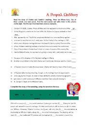 English Worksheet: Royal Wedding