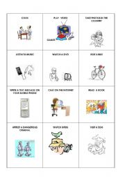 English Worksheets: ACTIONS MIME