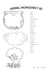English Worksheets: Animal Worksheet #2