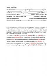 English Worksheets: Funny gap filling