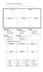 English worksheet: House Furniture