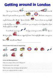 getting around in london esl worksheet by queensarah. Black Bedroom Furniture Sets. Home Design Ideas