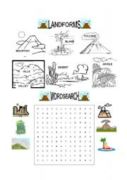 Worksheet Landforms Worksheets english teaching worksheets landforms landforms