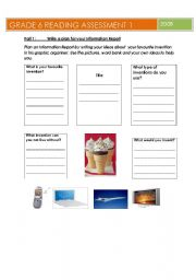 English Worksheets: Infomation writing text