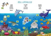 English Worksheets: sea animals