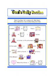 English Worksheets: Tom�s Routine