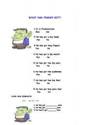 English Worksheets: has got