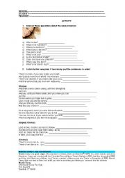 English Worksheet: Mariah Carey Song Hero