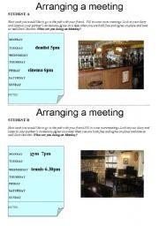 English Worksheet: Arranging a meeting