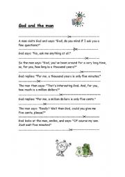 English Worksheet: Jumbled sentences, reading comprehension