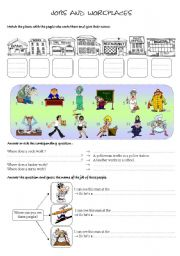 English Worksheets: jobs and workplaces
