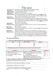 English Worksheets: interview with a singer