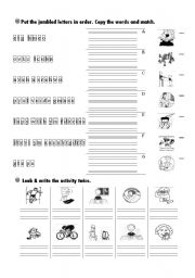 English Worksheets: series of activites