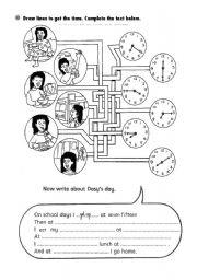 English Worksheet: series of activities