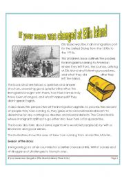 IF YOUR NAME WAS CHANGED IN ELLIS ISLAND-READING COMPREHENSION
