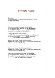 English Worksheet: Song: Eternal Flame