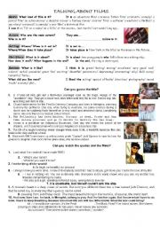 English Worksheet: Talking about films