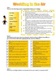 English Worksheet: Wedding in the Air