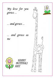 English Worksheet: MOTHER´S DAY