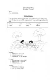 English Worksheets: picture composition