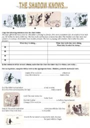English Worksheets: the shadow knows