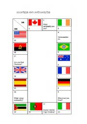 countries and nationalities game esl worksheet by portugal. Black Bedroom Furniture Sets. Home Design Ideas
