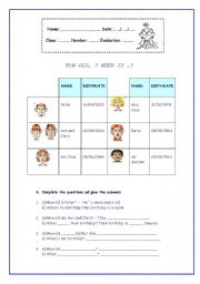 English Worksheet:  HOW OLD� ? WHEN IS �?