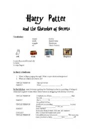 Intermediate ESL worksheets: Harry Potter and the Chamber of Secrets