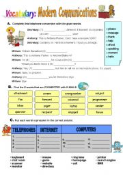 English Worksheets: Modern Communications