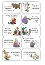 English Worksheets: Prepositions of time - Cards 3