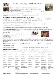 English Worksheets: self collage