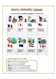 english teaching worksheets nationalities. Black Bedroom Furniture Sets. Home Design Ideas