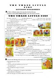 The Three Little Pigs - Grammar Revision