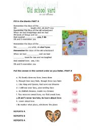 English Worksheets: Old School Yard by Cat Stevens