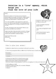 English Worksheets: Answering a letter