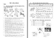 English Worksheet: test- wild animals