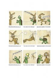 The Hare And The Tortoise Esl Worksheet By Tz Ione